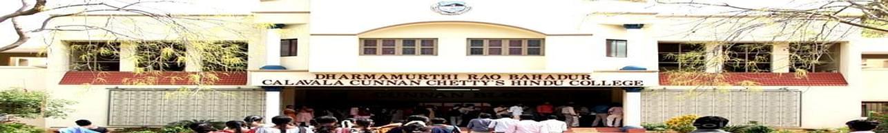 Dharmamurthi Rao Bahadur Calavala Cunnan Chettys Hindu College - [DRBCCC], Chennai