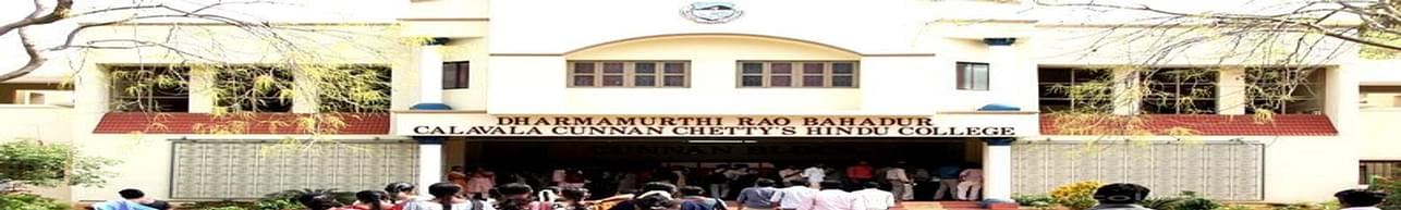 Dharmamurthi Rao Bahadur Calavala Cunnan Chettys Hindu College - [DRBCCC], Chennai - Scholarship Details