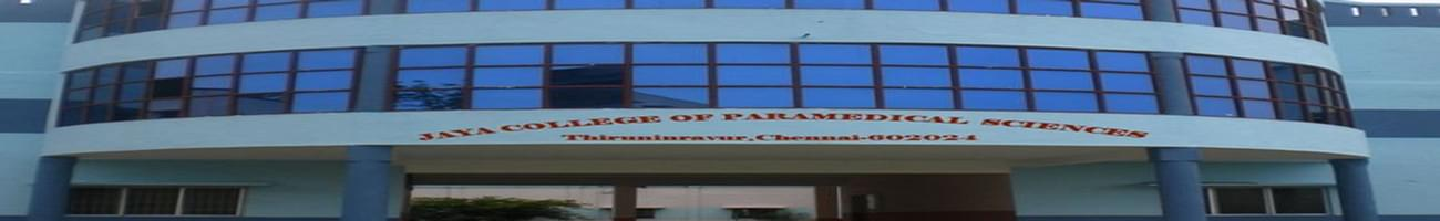 Jaya College of Paramedical Sciences, College of Pharmacy, Chennai