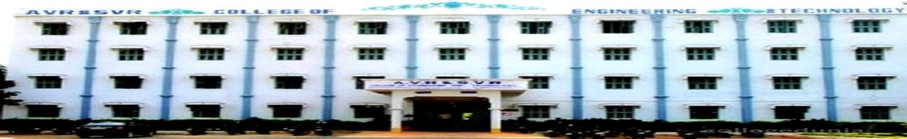 AVR and SVR College of Engineering and Technology, Kurnool