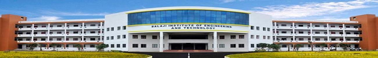 Balaji Institute of Engineering & Technology - [BIET], Chennai