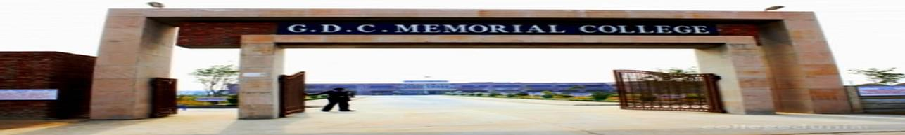 GDC Memorial College, Bhiwani - Course & Fees Details