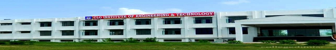 CLG Institute of Engineering and Technology - [CLGIET], Pali