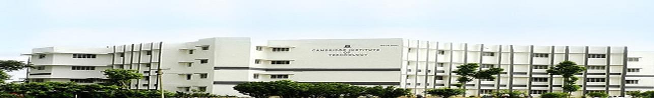 Cambridge Institute of Technology - [CIT], Ranchi