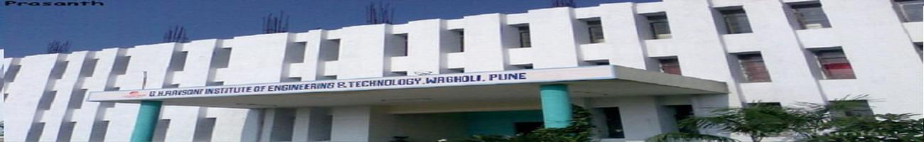 GH Raisoni Institute of Engineering and Technology - [GHRIET] Wagholi, Pune