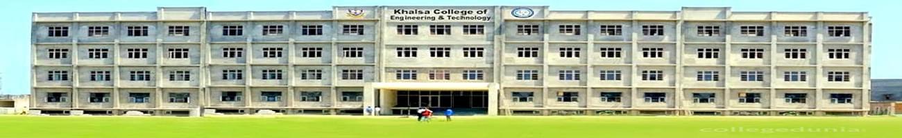 Khalsa College of Engineering & Technology - [KCET], Amritsar