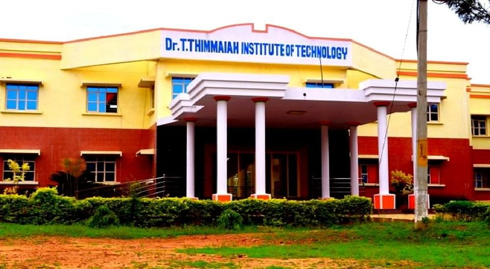 Dr  T  Thimmaiah Institute of Technology - [DRTTIT], Kolar