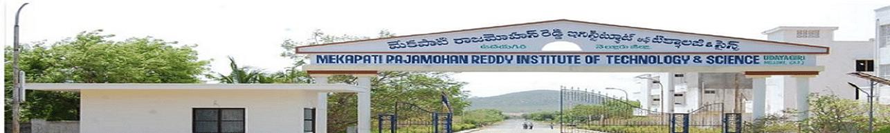 Mekapati Rajamohan Reddy Institute of Technology & Science - [MERITS], Nellore