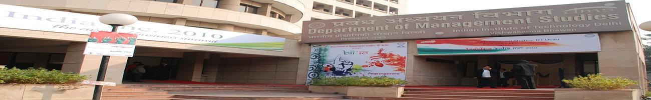 Department of Management Studies IIT Delhi - [DMS IITD], New Delhi