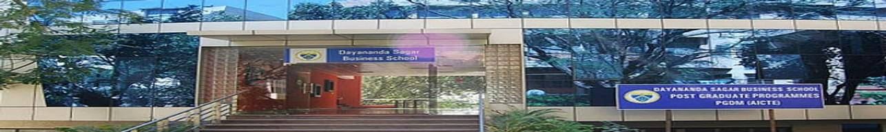 Dayananda Sagar Business School - [DSBS], Bangalore
