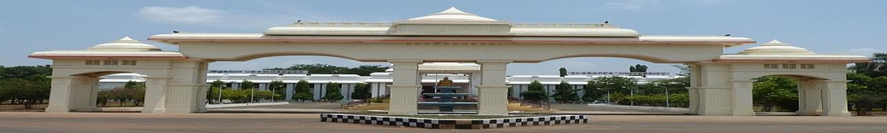 Alagappa University, Karaikudi - Course & Fees Details