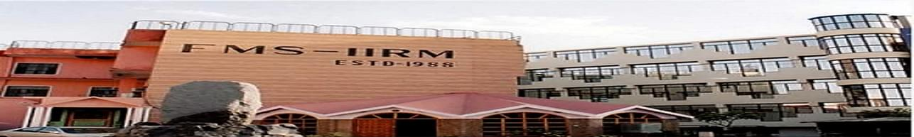 Institute of Rural Management - [FMS-IRM], Jaipur - Course & Fees Details