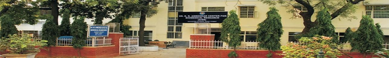 Dr. B. R. Ambedkar Center for Biomedical Research - [ACBR], New Delhi