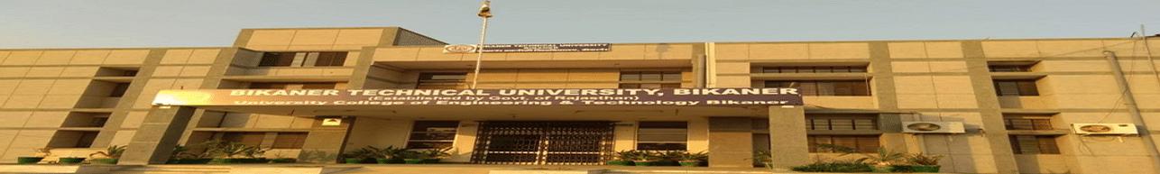Bikaner Technical University - [BTU], Bikaner - Course & Fees Details