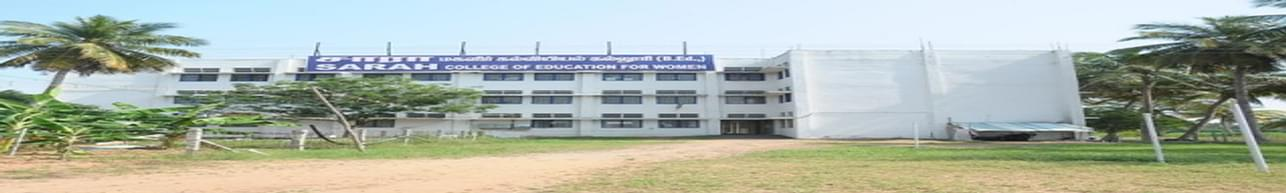 Sarah College of Education for Women, Erode - Course & Fees Details