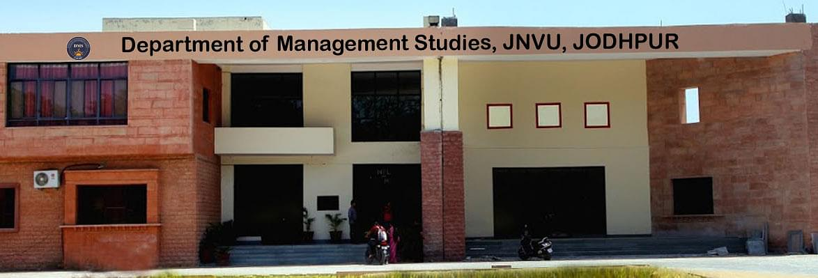 Department of Management Studies Jai Narain Vyas University