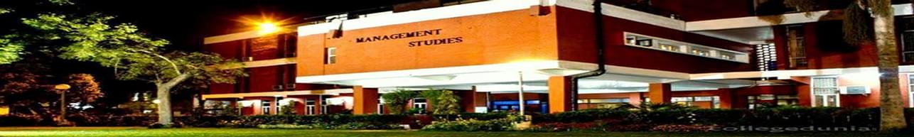 University of Delhi, Faculty of Management Studies - [FMS], New Delhi