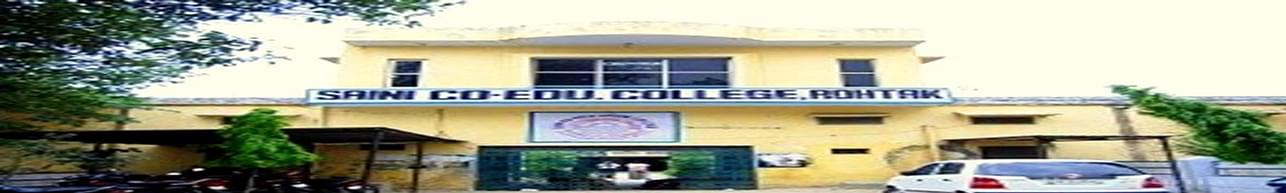 Saini Co-education College, Rohtak