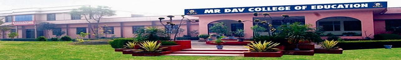 MR DAV College of Education, Rohtak