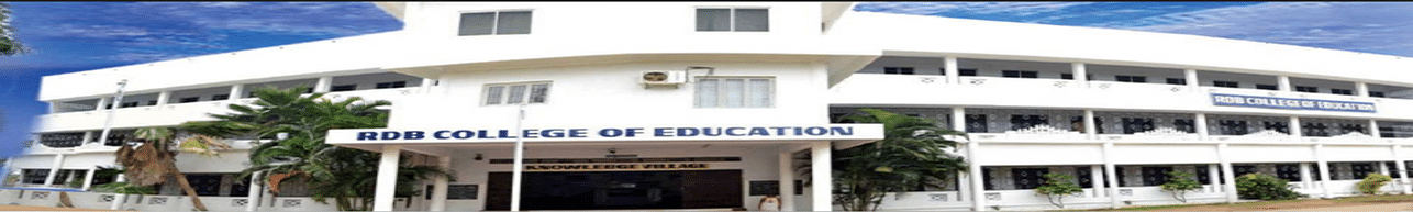R D B  College of Education, Thanjavur - Admission Details 2019