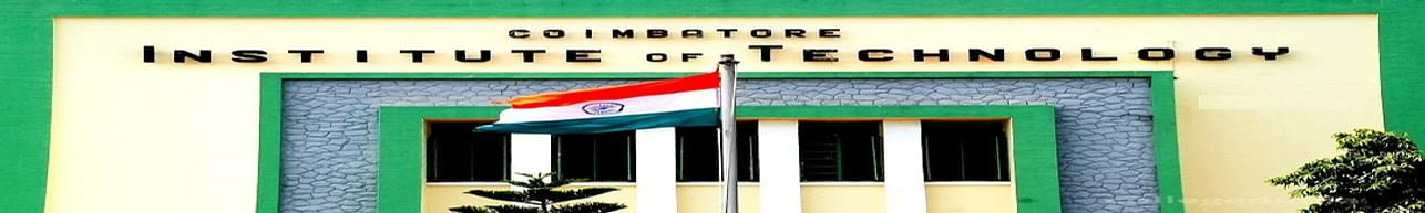 Coimbatore Institute of Technology - [CIT], Coimbatore - Admissions