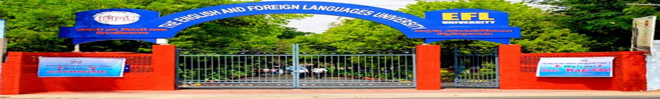 English and Foreign Languages University - [EFLU], Hyderabad - Admission Details 2020
