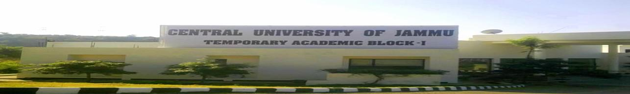 Central University of Jammu, Jammu - Course & Fees Details