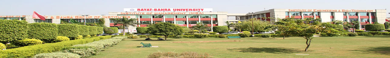 Rayat Bahra University, Mohali - Course & Fees Details