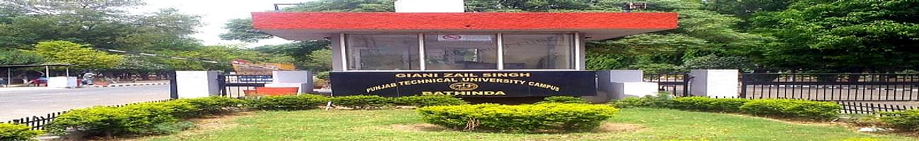 Giani Zail Singh Campus College of Engineering and Technology - [GZSCCET], Bathinda