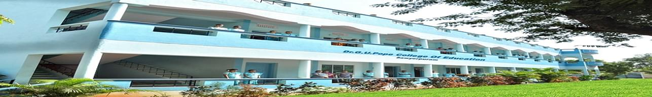 Dr. G.U. Pope College of Education, Thoothukudi