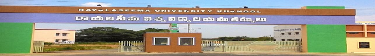 Rayalaseema University, Kurnool