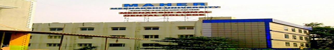Meenakshi Ammal Dental College and Hospital, Maher University, Chennai - Course & Fees Details