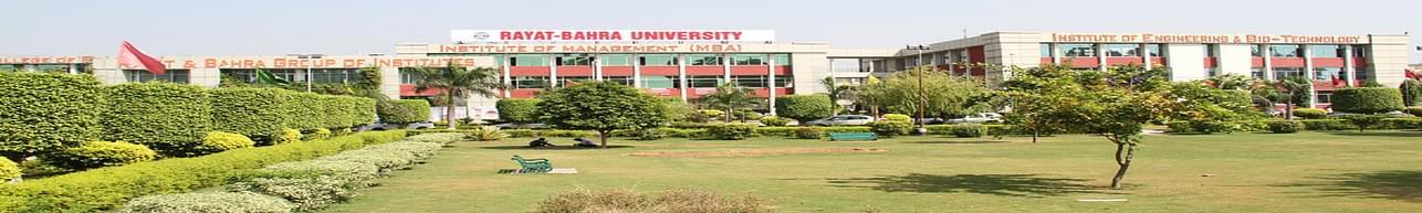 University School of Hotel Management & Catering Technology, Rayat Bahra University - [USHMCT], Mohali