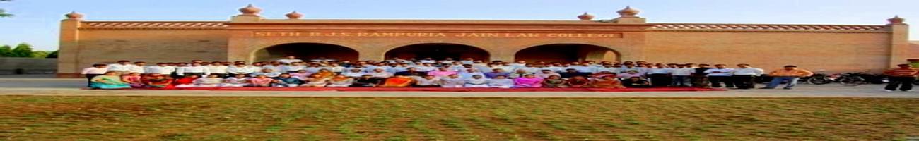 BJS Rampuria Jain Law College, Bikaner