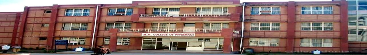 MM College of Pharmacy, Ambala