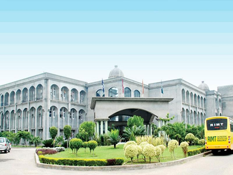 RIMT University, School of Hotel Management and Catering Technology - [SHMCT]