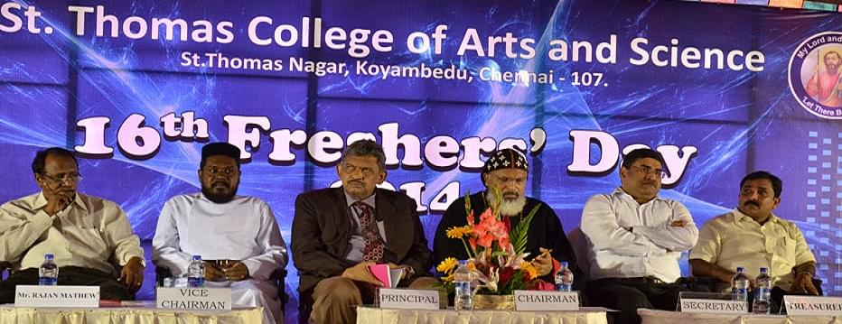 St  Thomas College of Arts and Science, Chennai - Admissions