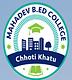 Mahadev BEd College, Nagaur logo