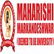 Maharishi Markandeshwar - [MMDU] Mullana Campus, Ambala logo