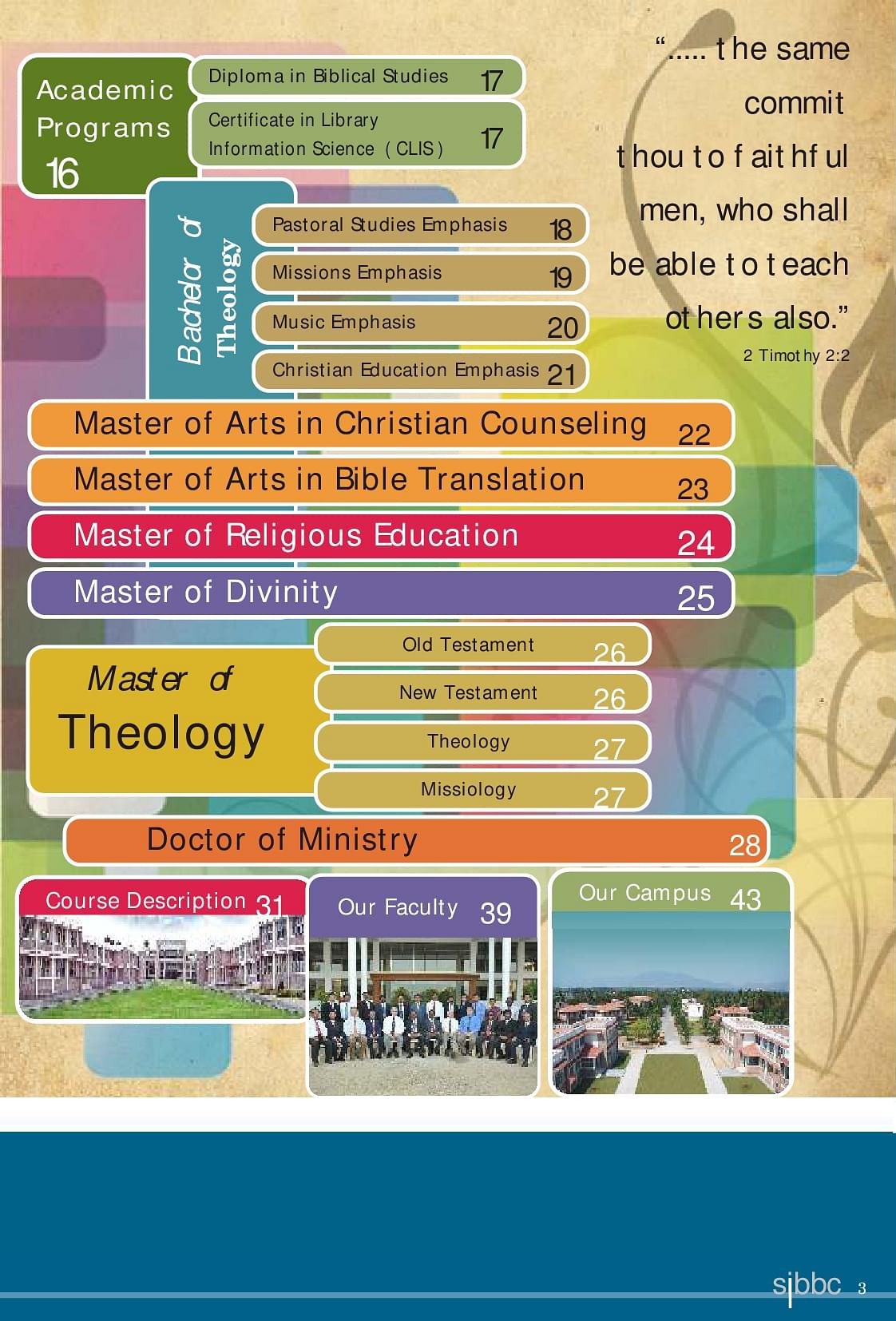 South India Baptist Bible College and Seminary, Coimbatore