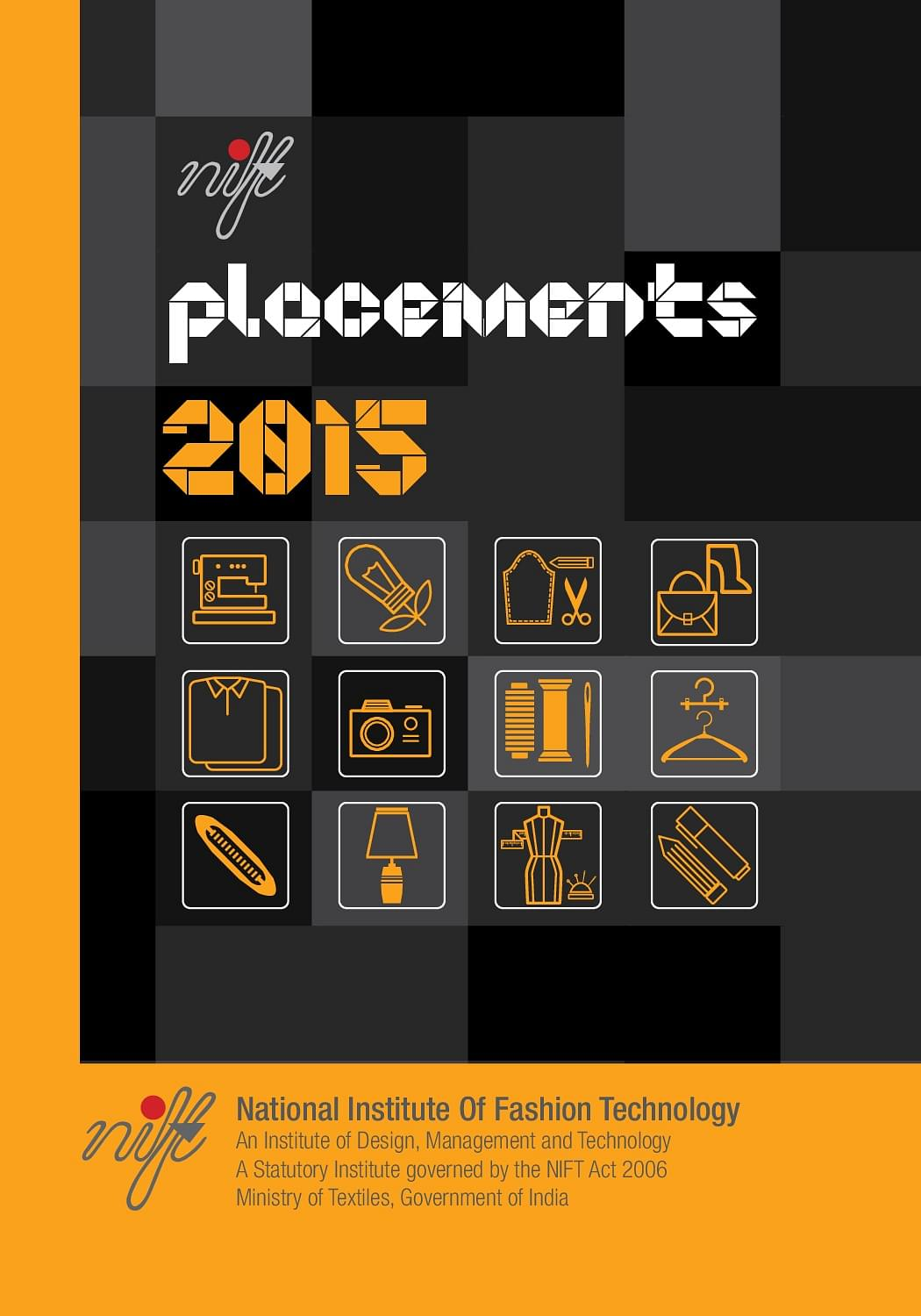 placement brochure design - national institute of fashion technology nift chennai
