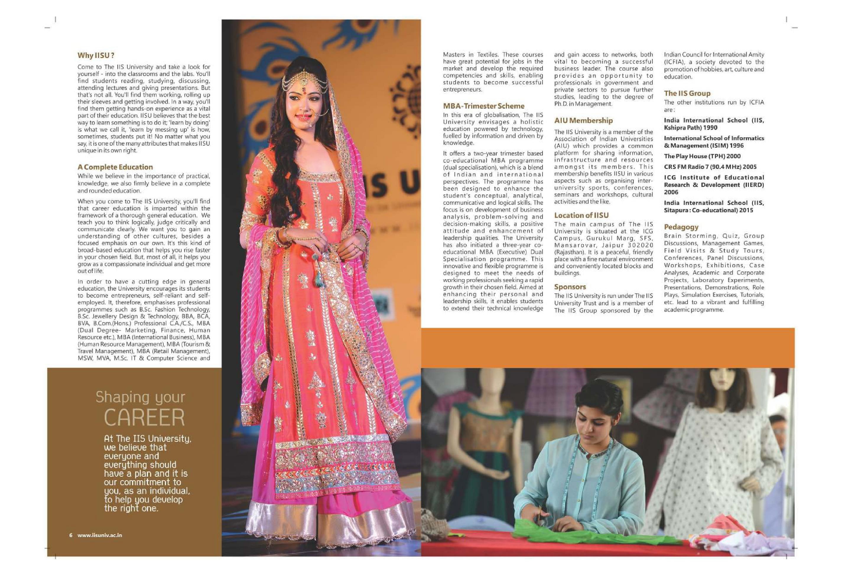 The IIS University - [IISU], Jaipur - Admissions, Contact, Website