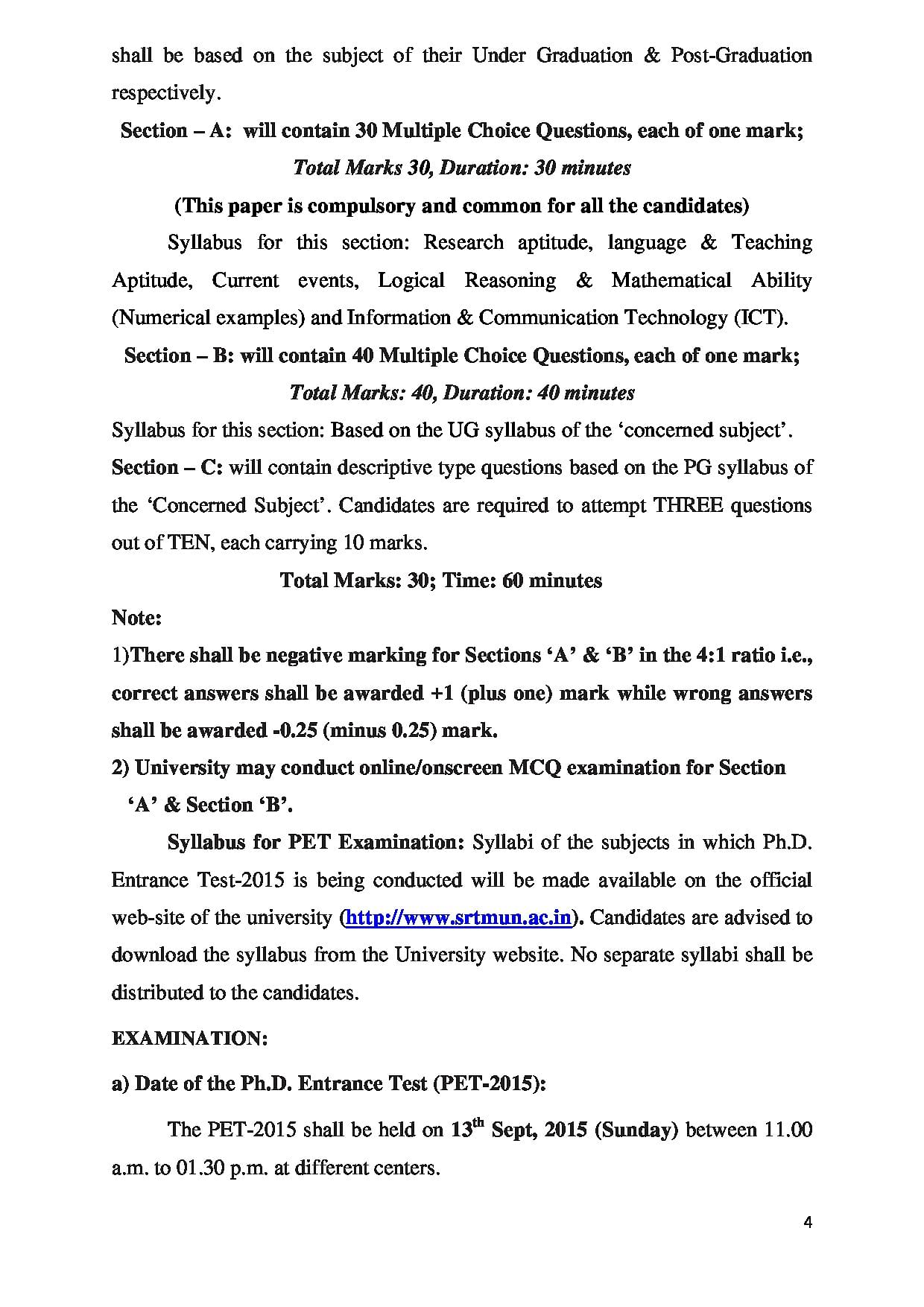Srtmun Info Courses Admission Result