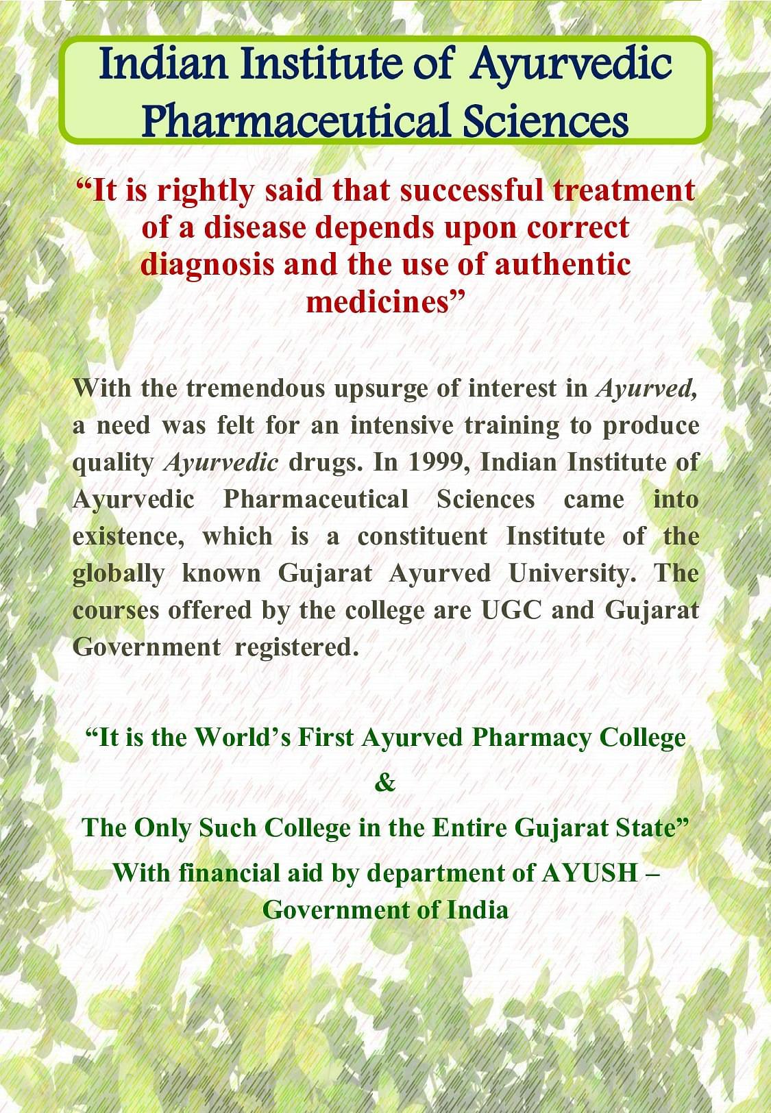 Gujarat ayurved university gau jamnagar admissions contact brochure xflitez Choice Image