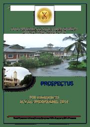 Information Brochure - PG Courses