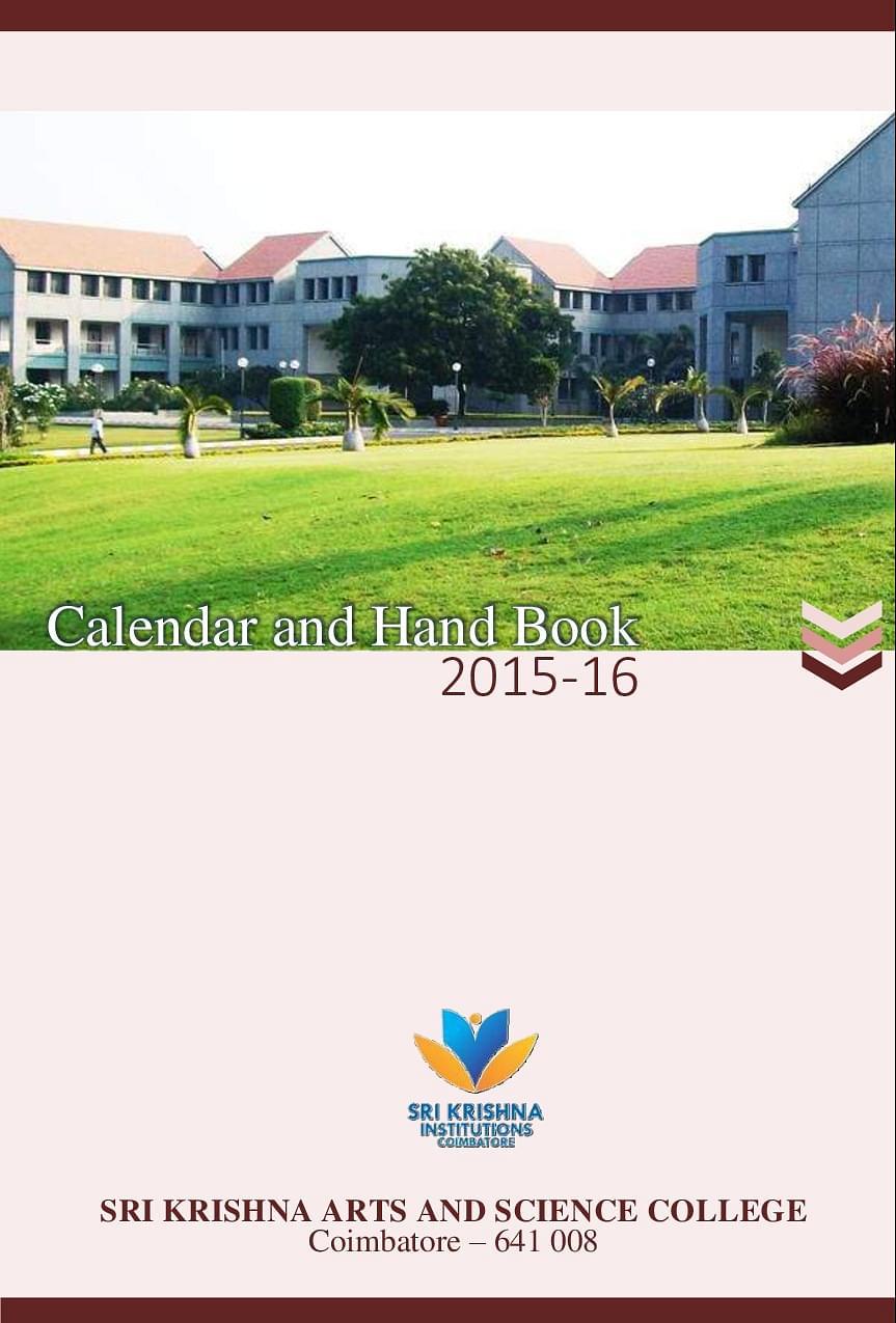 Sri Krishna Arts and Science College, Coimbatore - Admissions