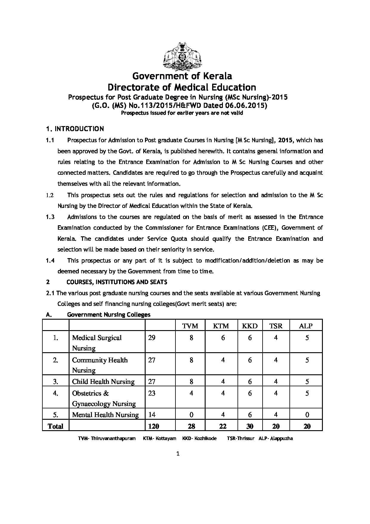 Pariyaram College of Nursing, Kannur - Admissions, Contact, Website