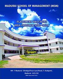 MSM Placement Brochure