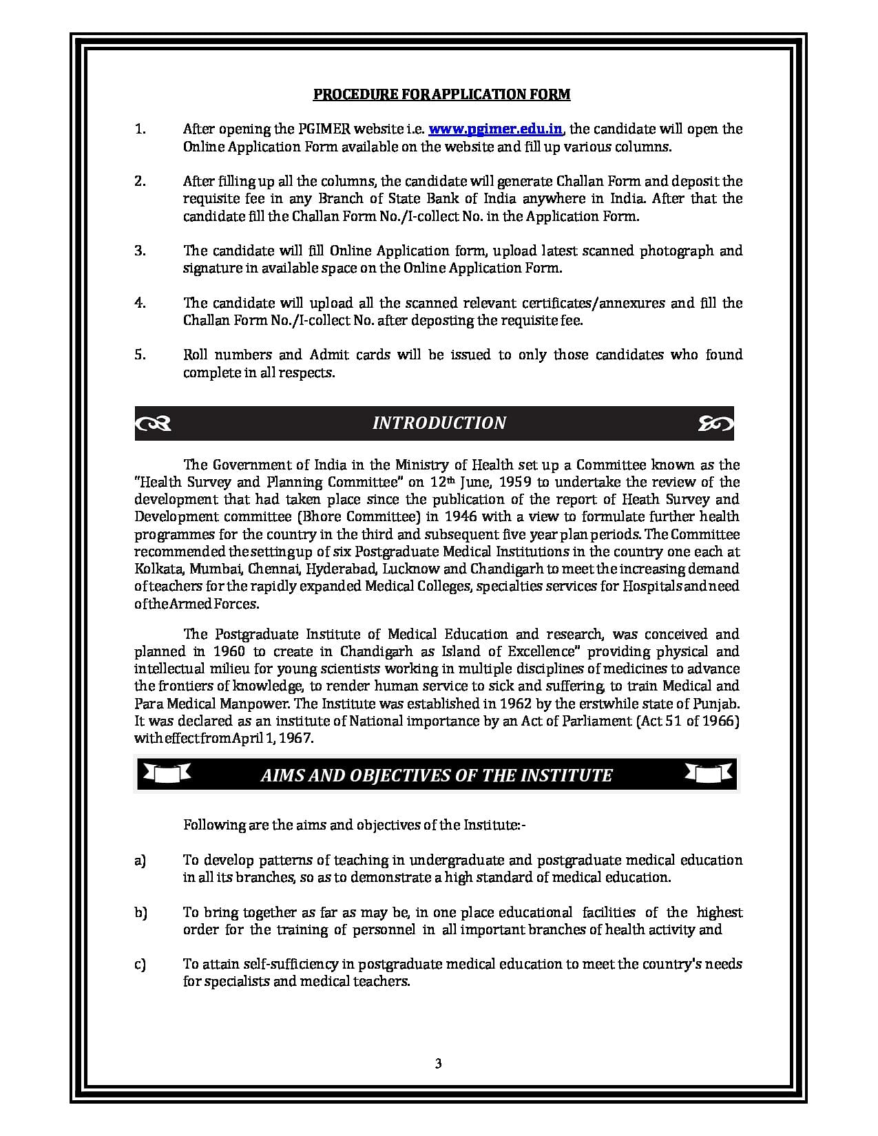 PGIMER, Chandigarh - Course, Fees Structure, Admissions, Results