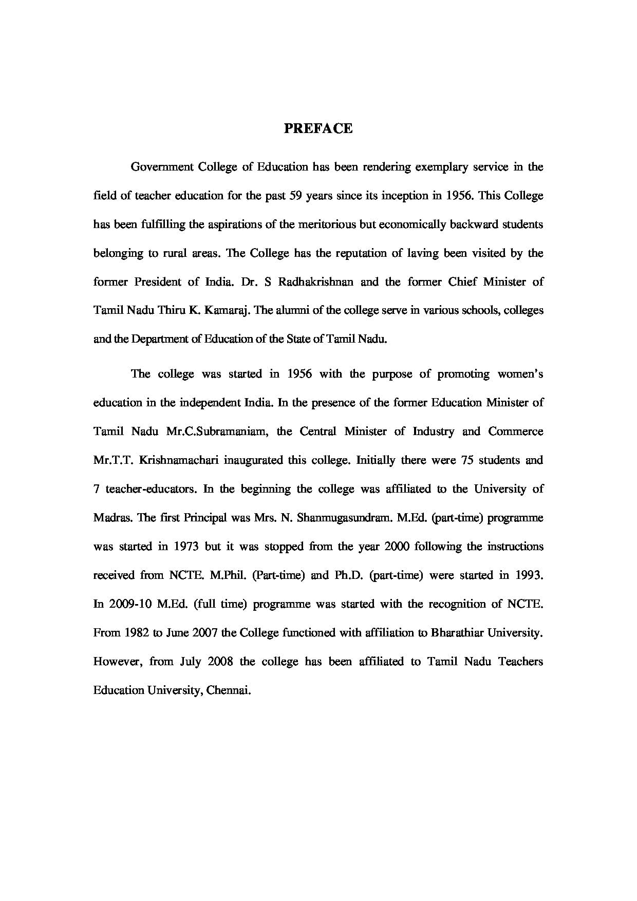 Government College Of Education For Women Coimbatore Admissions House Wiring Books In Tamil 2016naac Report